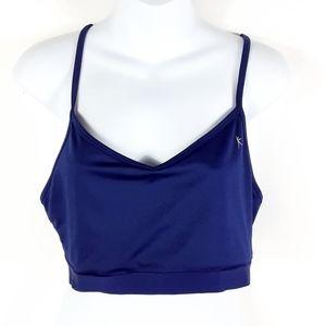 Danskin open back navy blue sport bra
